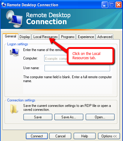 Share local drive with Remote Desktop Connection