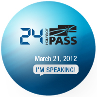 I am speaking at 24 Hours of PASS